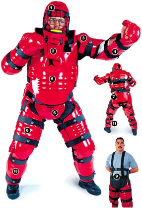 Red Man instructor suit